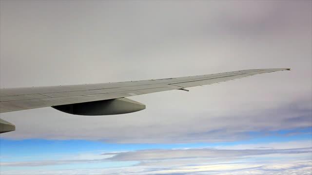 peaceful view from plane window - byakkaya stock videos and b-roll footage