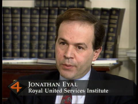 UN Peacekeeping Force under pressure to increase its operations ENGLAND London INT CMS Jonathan Eyal intvwd SOF If UN wants to get involved in Bosnia...