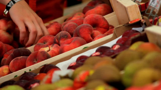 Peaches At The Open Market Close-up