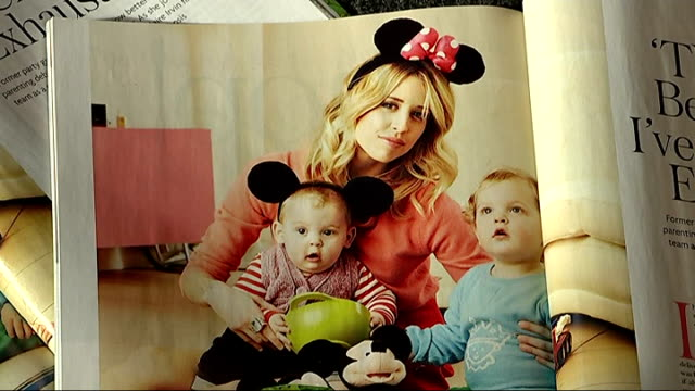 vidéos et rushes de family await postmortem magazine article in 'mother and baby magazine' featuring peaches geldof and sons zoom in photograph claire irvin interview... - autopsie