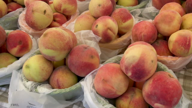 Peaches sold at Farmers Market