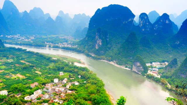 peaks on both sides of the Li River