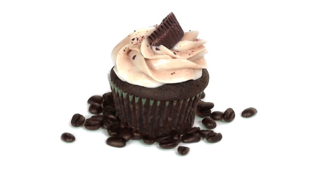 peanut butter cupcake - cupcake stock videos and b-roll footage