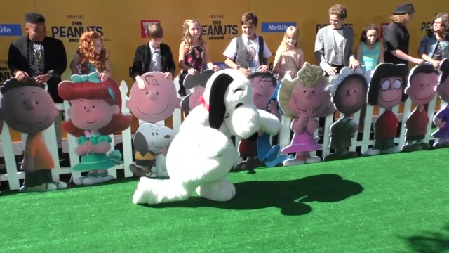 Peanuts Movie Cast at The Peanuts Movie Premiere at Regency Village Theatre in Westwood on November 01 2015 in Los Angeles California