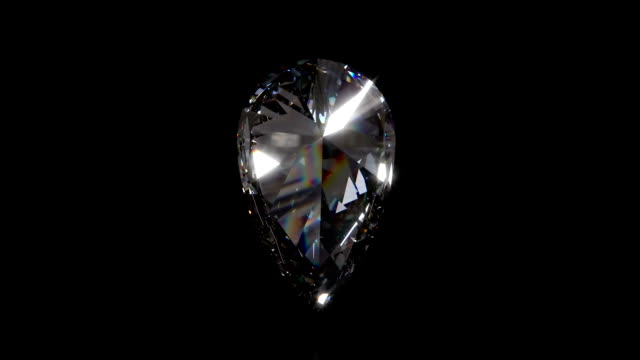 pear shaped diamond loopable - pear stock videos & royalty-free footage