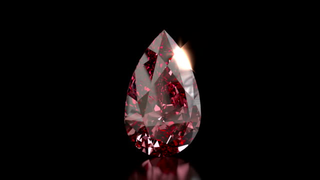Pear shaped ruby gemstone