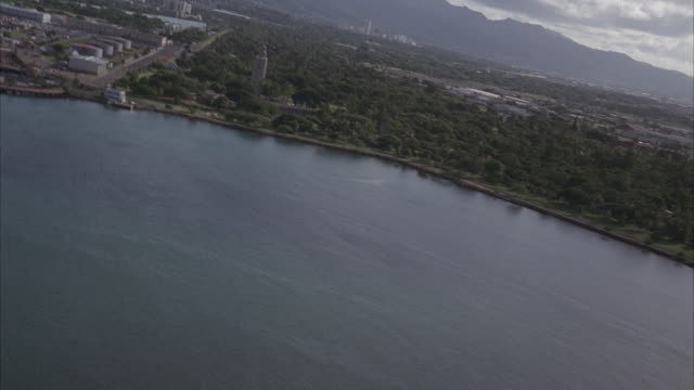 aerial, pearl harbor and honolulu, hawaii, usa - pearl harbor stock videos and b-roll footage