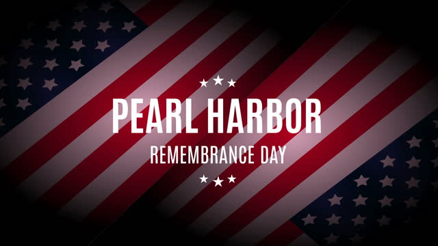 pearl harbor remembrance day animation with usa flag - oahu stock videos & royalty-free footage