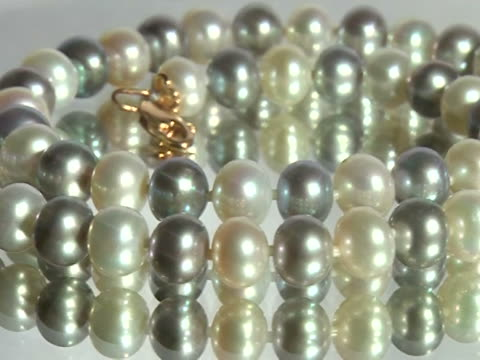pearl necklace - necklace stock videos & royalty-free footage