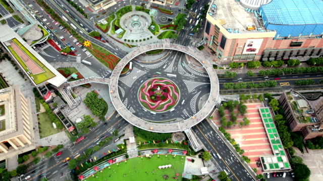 Pearl Ring Roundabout in Shanghai China, China