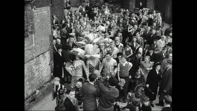 pearly children with harvest festival offerings; 1949 - english culture stock videos & royalty-free footage