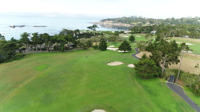 Pebble Beach Shoreline Golf Course - Drone - Descent To Putting Green