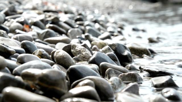 Pebble rocks on beach