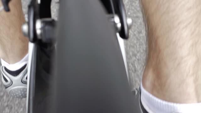 pedalling bike tr - human limb stock videos & royalty-free footage