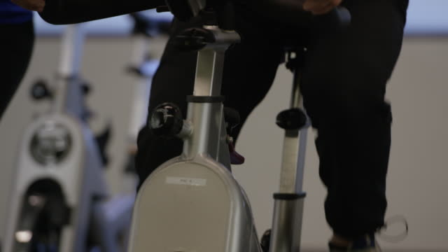 Peddling on an Indoor Bicyle