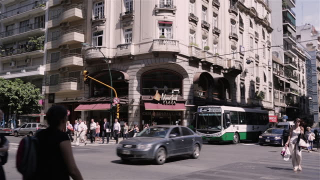WS Pedestrains and traffic in Recoleta / Buenos Aires, Argentina