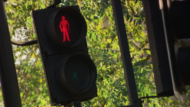 pedestrian crossing traffic light - stoplight stock videos & royalty-free footage