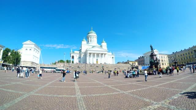 Pedestrian Crowd At Helsinki in Finland