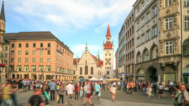 Pedestrian crowded at Central Square Marienplatz