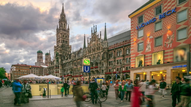 Pedestrian crowded at Central Square Marienplatz
