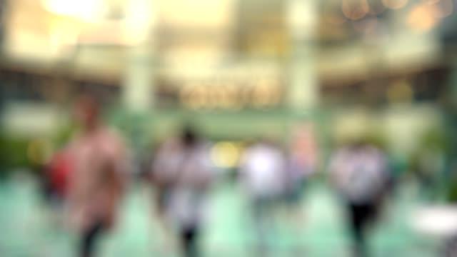 4k video : pedestrian crowded in rush hour. - un giorno nella vita video stock e b–roll