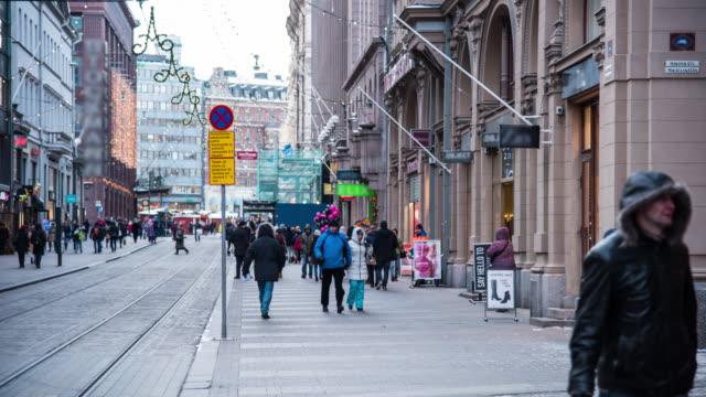 Pedestrian Crowed At Helsinki, Finland