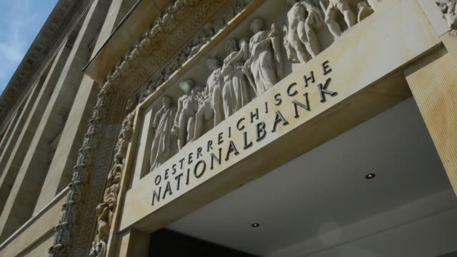 vídeos y material grabado en eventos de stock de a pedestrian passes the headquarters of the austrian central bank also known as the oesterreichische nationalbank in vienna austria on tuesday july... - austria