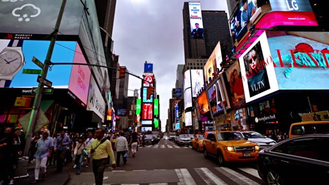 Pedestrian. Time Square. Traffic