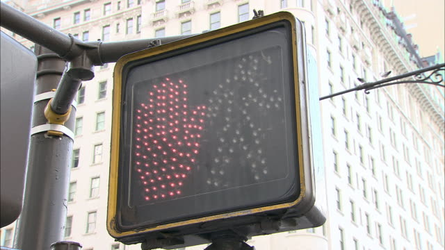 CU, Pedestrian traffic light, New York City, New York, USA