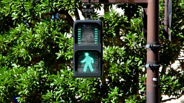 pedestrian walk light - vägsignal bildbanksvideor och videomaterial från bakom kulisserna