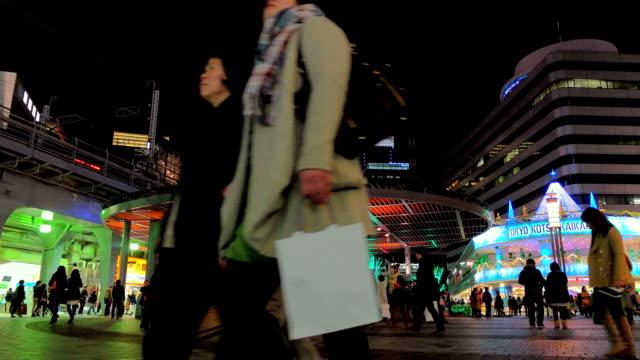 pedestrian walking at yuraku-cho station.tokyo,japan. - ginza stock videos & royalty-free footage