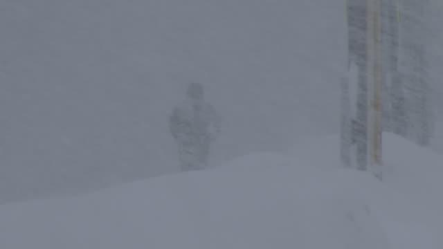 pedestrian walking in a blizzard - scott mcpartland stock videos & royalty-free footage