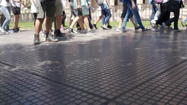 pedestrian zone in buenos aires - pedestrian stock videos & royalty-free footage