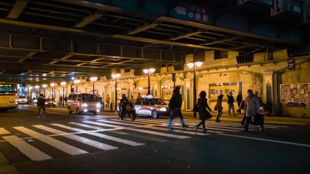 WS,Pedestrians at night..Nakano,Tokyo,Japan