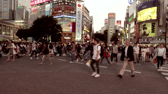 pedestrians at shibuya crossing - martin luther: his life and time stock videos & royalty-free footage
