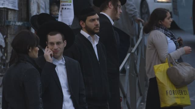 pedestrians in jerusalem, medium shot - israel stock videos & royalty-free footage