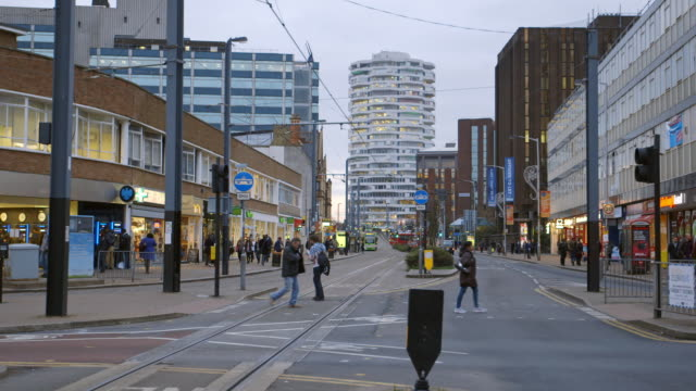 WS Pedestrians on Croydon High Street in Croydon / London, England, United Kingdom
