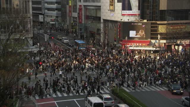 WS LS HA Pedestrians on Shibuya intersection, Tokyo, Japan