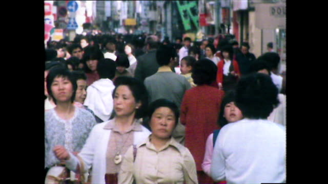 pedestrians on street and crossing road in nagasaki; 1981 - 1981 stock videos & royalty-free footage