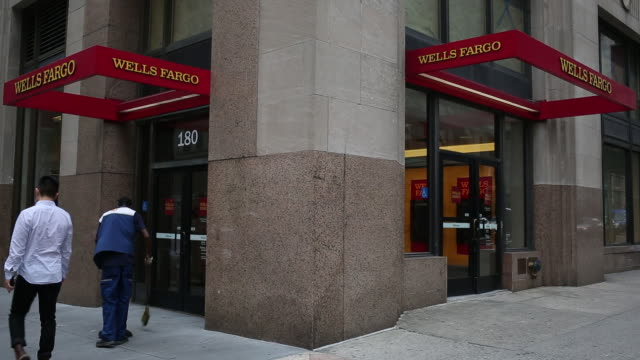 pedestrians passing first republic bank wells fargo bank and chase bank buildings new york us on tuesday july 2 2019 - wells fargo stock videos and b-roll footage