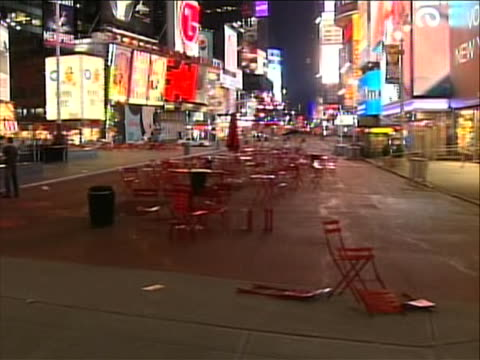 pedestrians stand near a barricaded off area because times square is evacuated and shut down due to a bomb being found in an abandoned car there was... - crime or recreational drug or prison or legal trial stock videos & royalty-free footage