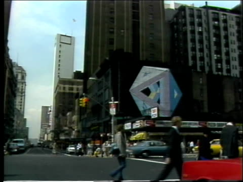 pedestrians wait to cross street, street vendors new york city street scenes on june 01, 1982 in new york, new york - 1982 stock videos & royalty-free footage