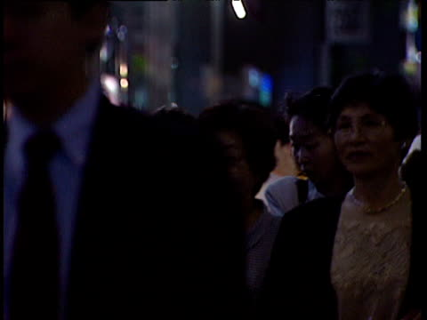 pedestrians walking along busy street japan - 1991 stock videos and b-roll footage