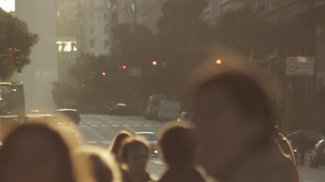pedestrians walking on street - buenos aires stock-videos und b-roll-filmmaterial