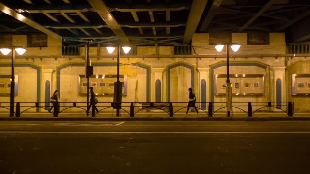 vídeos de stock, filmes e b-roll de pedestrians walking under path.nakano,tokyo,japan - passagem subterrânea via pública
