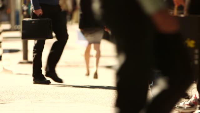 pedestrians walking - crossroad stock videos & royalty-free footage