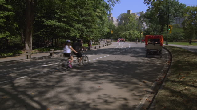 Pedicab and Other People on Bicycles in Central Park
