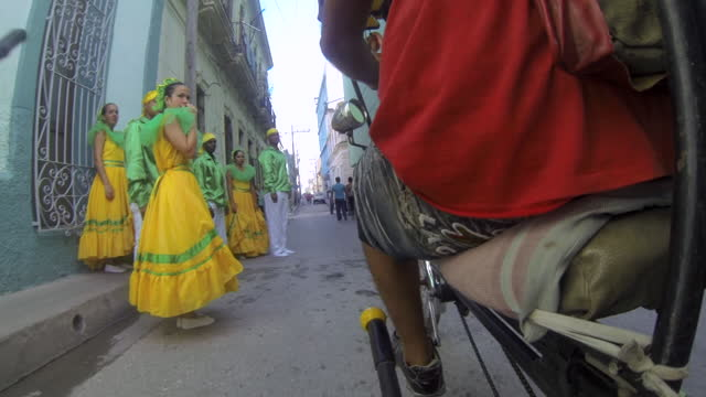 pedicab or bici-taxi on march 10, 2015; in santa clara, villa clara, cuba. the urban transportation vehicle is popular on the caribbean island. it is... - pedicab stock videos & royalty-free footage