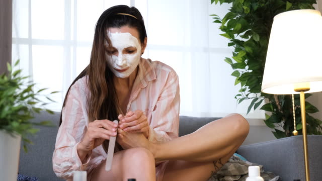 pedicure at home - pedicure stock videos & royalty-free footage