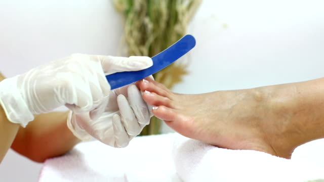 pedicure treatment. - pedicure stock videos & royalty-free footage